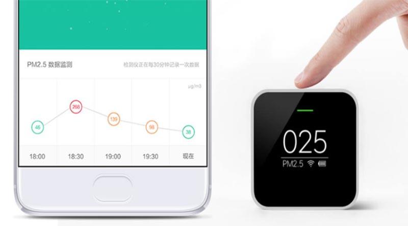 Интерфейс приложения анализатора воздуха Xiaomi