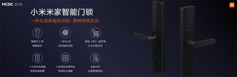 Умный замок Xiaomi Mijia Smart Door Lock поддерживает 6 способов открытия